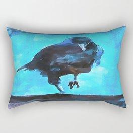 Creepy Crow Rectangular Pillow