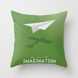Never Forget to Play - Paper Plane Throw Pillow