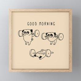 Good morning Framed Mini Art Print