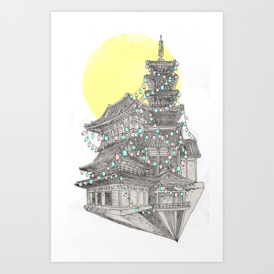 City of Lanterns Art Print