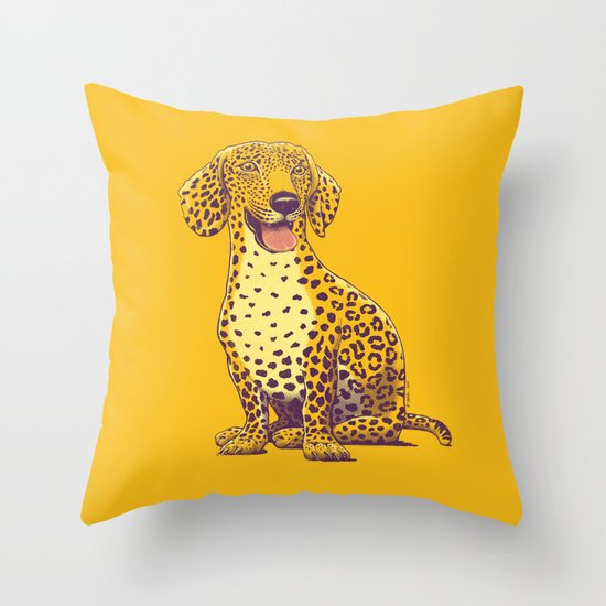 Take a Woof on the Wild Side! Throw Pillow