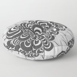 Thunder Clouds and Concerns Floor Pillow