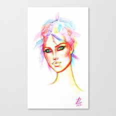 Rainbow Girl Canvas Print