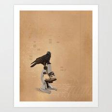 Science Crow Art Print
