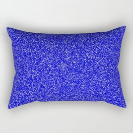 royal blue glitter Rectangular Pillow