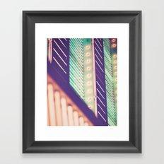 Turquoise Neon Framed Art Print
