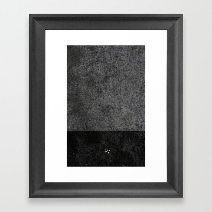 Dark luxury concrete  Gerahmter Kunstdruck