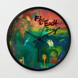 Fly Each Day Wall Clock