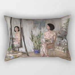 Plant Lady Rectangular Pillow