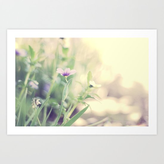Pretty in purple Art Print