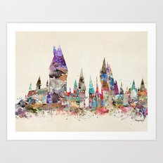 hogwarts school of magic Art Print