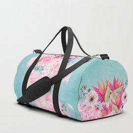 Woman in flowers II Duffle Bag