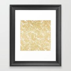 Modern faux gold glitter stylish marble effect Framed Art Print