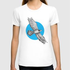 Flying Hawk Womens Fitted Tee White LARGE