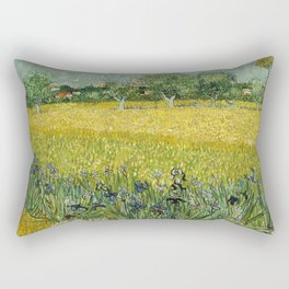 Field with Flowers near Arles by Vincent van Gogh Rectangular Pillow