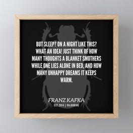 80  |  Franz Kafka Quotes | 190517 Framed Mini Art Print