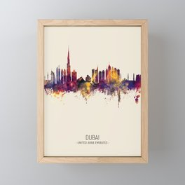 Dubai Skyline Framed Mini Art Print