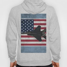 F15 Fighter Jet American Flag Hoody