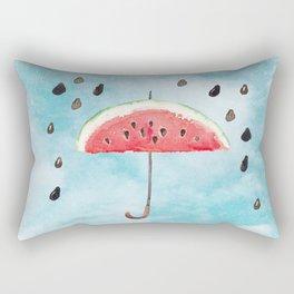 Melon - Fruity Summer Rain Rectangular Pillow