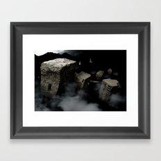 seventh for the mountains Framed Art Print