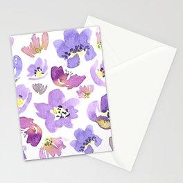 Purple Geranium Stationery Cards