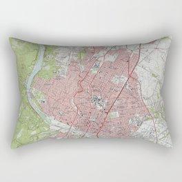 Vintage Map of Austin Texas (1955) Rectangular Pillow