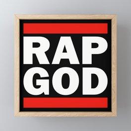 RAP GOD Framed Mini Art Print