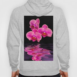 Mystical Pink Orchids Reflections Hoody