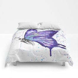 Lavender Butterfly Comforters