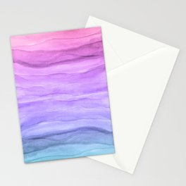 Abstract Watercolor Layers - Purple Ombre Stationery Cards