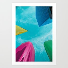 Colorful Buildings in LA Art Print