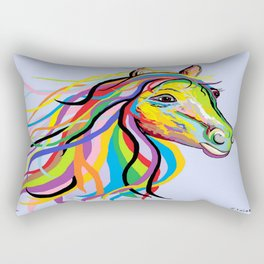 Horse of a Different Color Rectangular Pillow