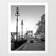 WHITEOUT : Brooklyn Bridge Art Print