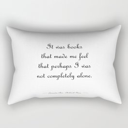 Not completely alone - Will Herondale WHITE Rectangular Pillow