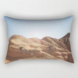 Mountain Biking Men Rectangular Pillow