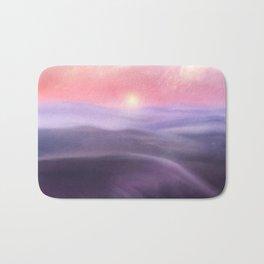 Minimal abstract landscape III Bath Mat