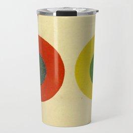 Contrast Circles Travel Mug
