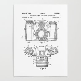 Patent Print 1962 Camera Poster