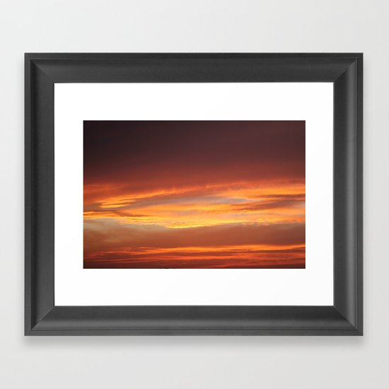 Red Evening Framed Art Print