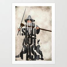 Gandalf - The Lord of the Rings Art Print