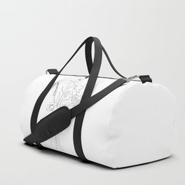 Small Wildflowers Minimalist Line Art Duffle Bag
