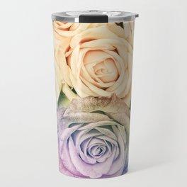 Some people grumble - Colorful Roses - Rose pattern Travel Mug