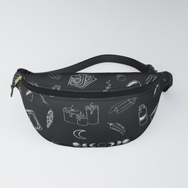 Witchy Stuff Black Fanny Pack
