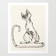 Cats with Tats v.1 Art Print