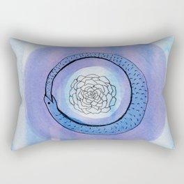 Orobouros Rose Rectangular Pillow