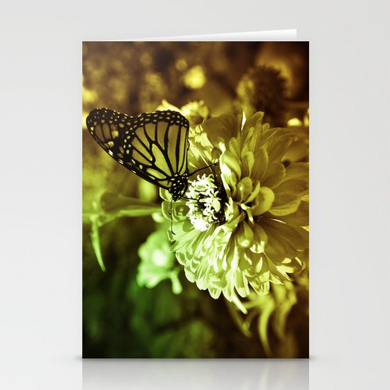 Butterfly on Flower - Color Stationery Cards