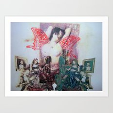 girl with wings Art Print