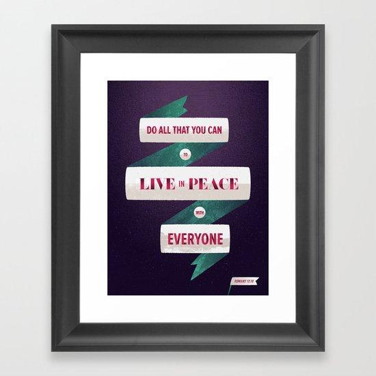 Romans 12:18 Framed Art Print