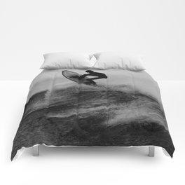 Surf black white Comforters