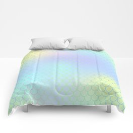 Aqua Green Mermaid Tail Abstraction Comforters